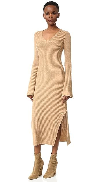 Derek Lam Ribbed Cashmere Sweater Dress