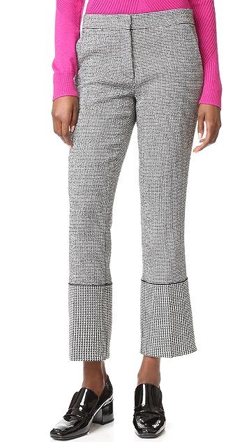 Derek Lam Wide Cuff Slim Trousers