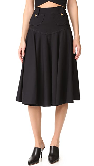 Derek Lam Flared Midi Skirt