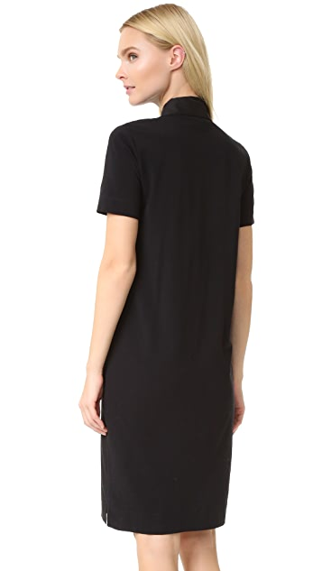 DKNY Short Sleeve Collared Dress