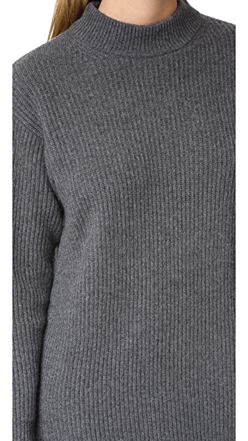 DKNY Cashmere Sweater Dress with Side Slits