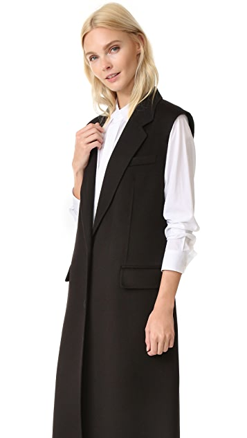 DKNY Long Double Breasted Vest