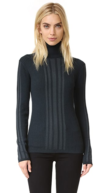 DKNY Ribbed Turtleneck Pullover