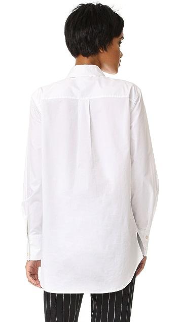 DKNY Pure DKNY Long Sleeve Tuxedo Shirt