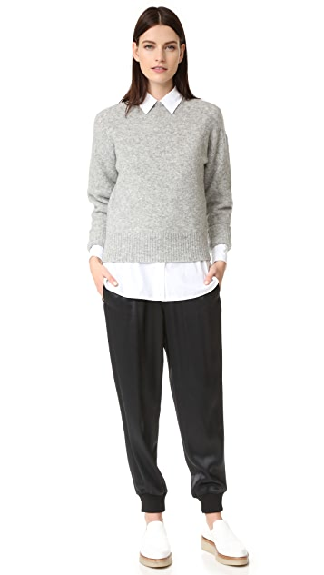DKNY Pull On Pants with Ribbed Cuffs