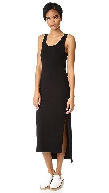 DKNY Sleeveless Dress with Side Slits