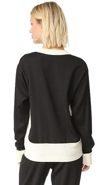 DKNY Mixed Media Pullover