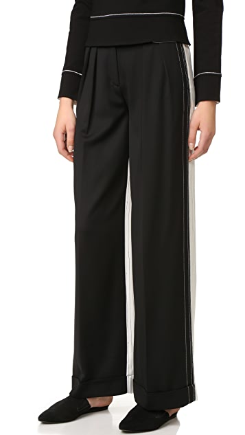 DKNY Wide Leg Pants with Cuffs