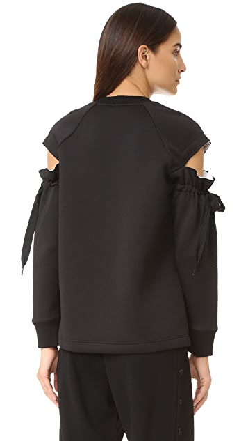 DKNY Top with Drawsting Sleeves