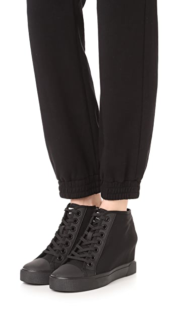 DKNY Cindy Mesh Wedge Sneakers