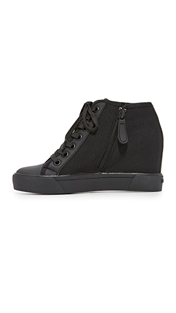 DKNY Cindy Mesh Wedge Sneakers