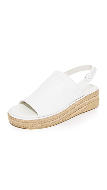 DKNY Sally Leather Espadrille Sandals