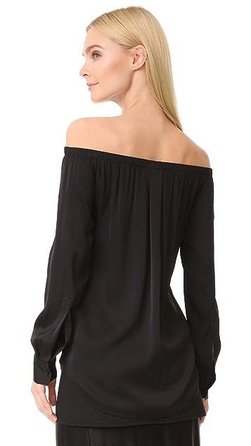 DKNY Long Sleeve Off Shoulder Top