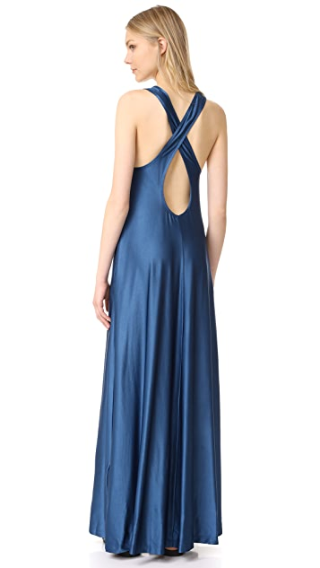 DKNY Sleeveless Maxi Dress with Pocket