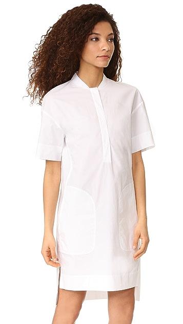 DKNY Short Sleeve Dress with Half Hidden Placket