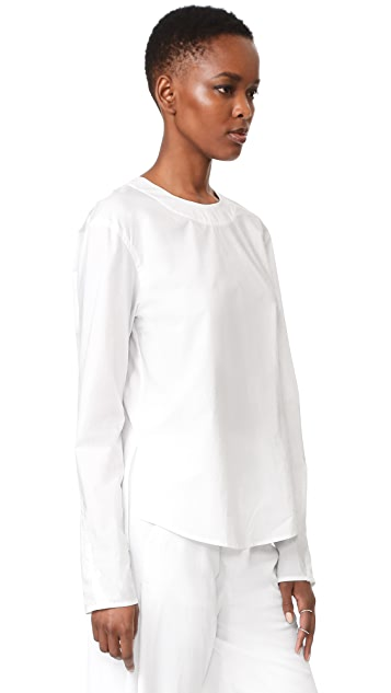 DKNY Tie Closure Blouse