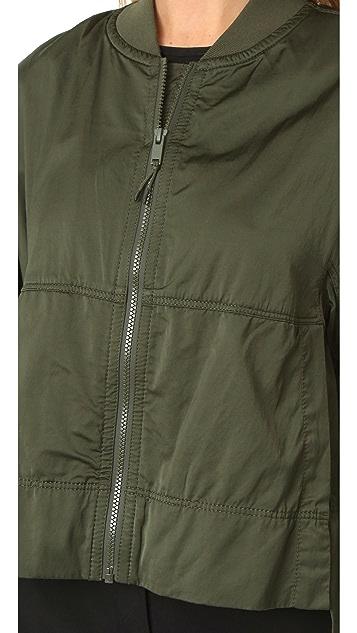 DKNY Cropped Bomber Jacket