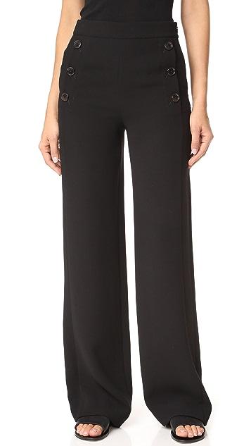 DKNY High Waisted Sailor Pants