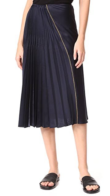 DKNY Skirt with Asym Pleats
