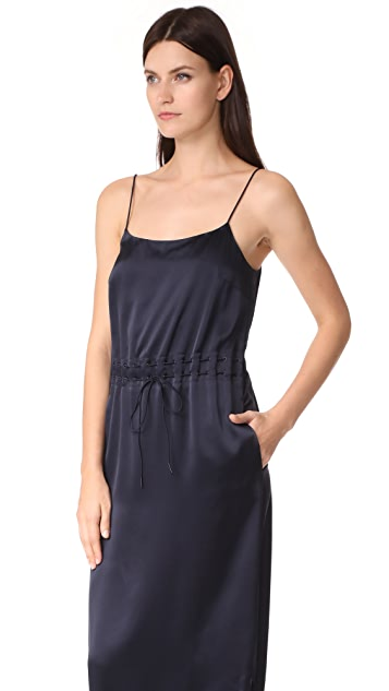 DKNY Sleeveless Dress with Grommets