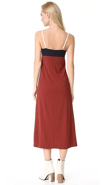 DKNY V Neck Slip Dress