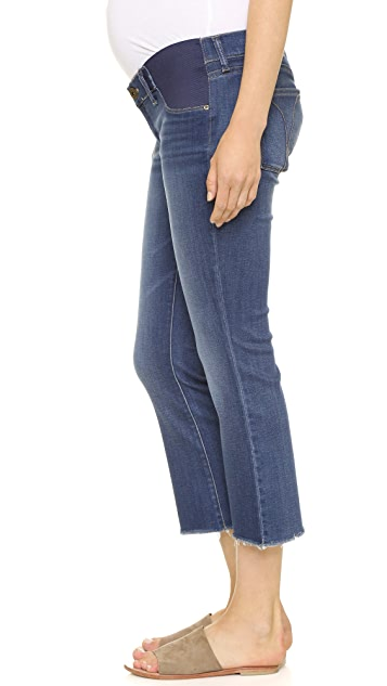 DL1961 Lara Maternity Cropped Flare Jeans