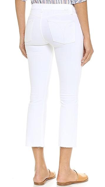 DL1961 Укороченные расклешенные джинсы Lara