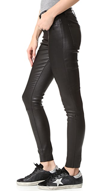 DL1961 Jessica Alba No.3 Instasculpt Skinny Leather Pants