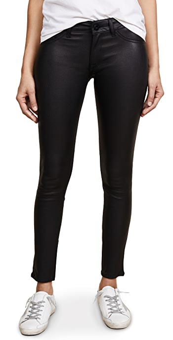 DL1961 Emma Power Legging Leather and Coated Jeans - Poseidon