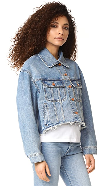DL1961 Zoe Cut Off Jean Jacket