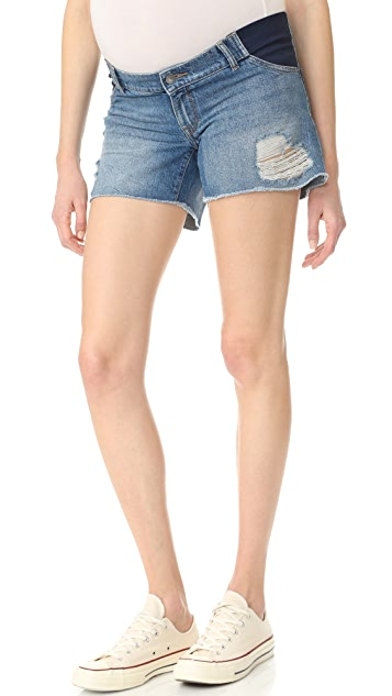 DL1961 Karlie Maternity Shorts - Sprawling