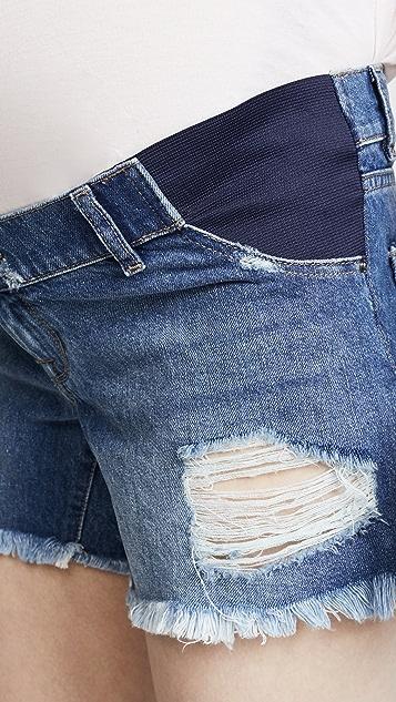 DL1961 Karlie Boyfriend Maternity Shorts