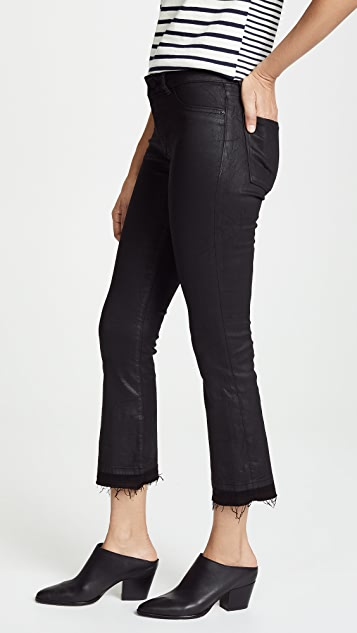 DL1961 Lara Coated Cropped Bootcut Jeans