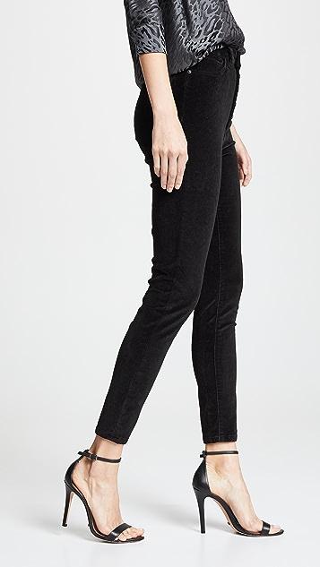 DL1961 Бархатные джинсы Chrissy с очень высокой посадкой