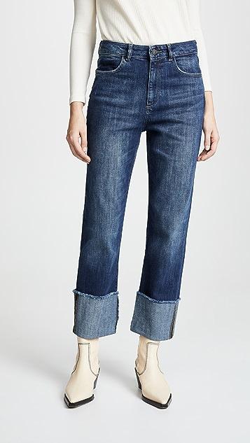 DL1961 Jerry High Rise Vintage Straight Leg Jeans