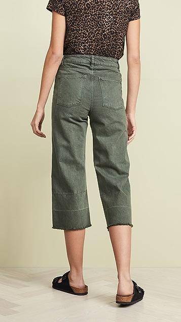 DL1961 Hepburn Crop High Rise Wide Leg Jeans