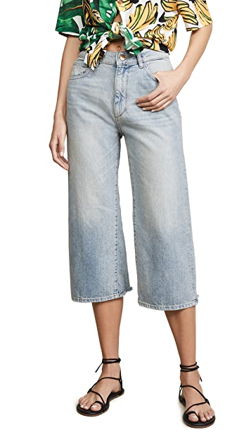 DL1961 Hepburn Crop High Rise Wide Leg Jeans
