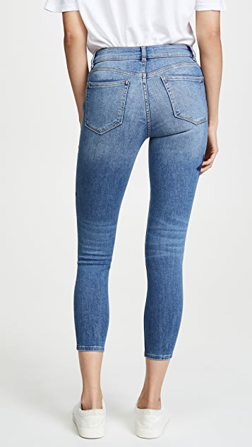 DL1961 Florence Crop Mid Rise Instasculpt Skinny Jeans