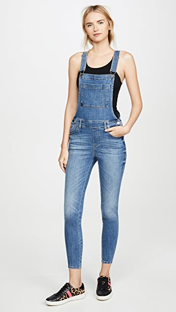 DL1961 Florence Overall Mid Rise Skinny Overalls