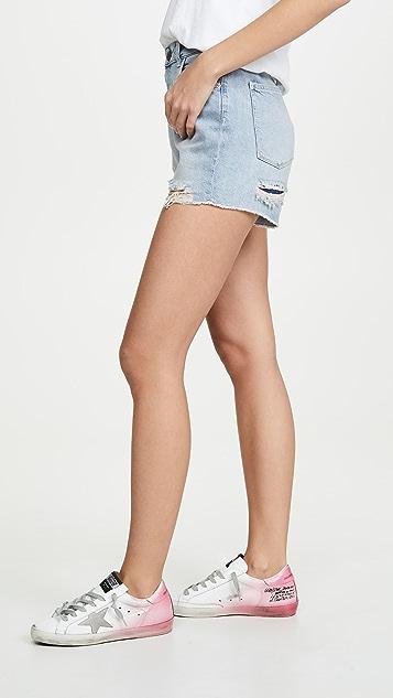DL1961 Hepburn Shorts High Rise Wide Leg