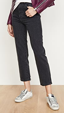 x Marianna Hewitt Jerry High Rise Vintage Straight Jeans