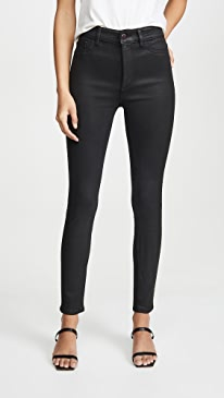 x Marianna Hewitt Farrow Ankle High Rise Skinny Jeans