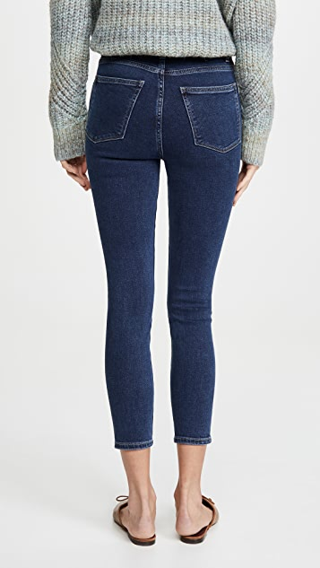 DL1961 Chrissy Cropped Ultra High Rise Skinny Jeans