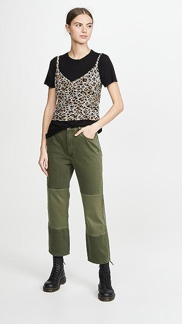 DL1961 Практичные брюки из твила Jerry