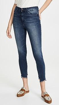 x Marianna Hewitt Farrow Crop High Rise Skinny Jeans