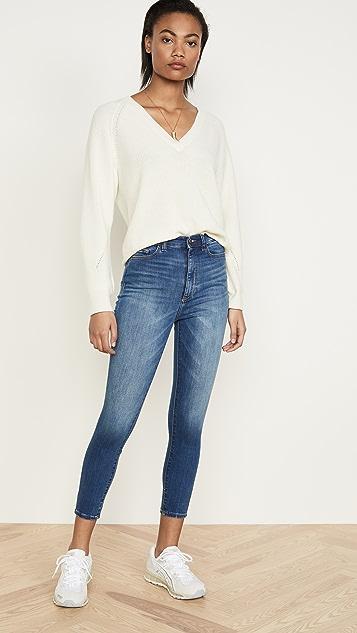 DL1961 Укороченные джинсы-скинни Chrissy с очень высокой посадкой