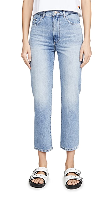 DL1961 Jerry 高腰复古直脚牛仔裤