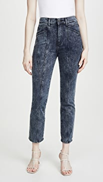 Mara Ankle: High Rise Straight Jeans