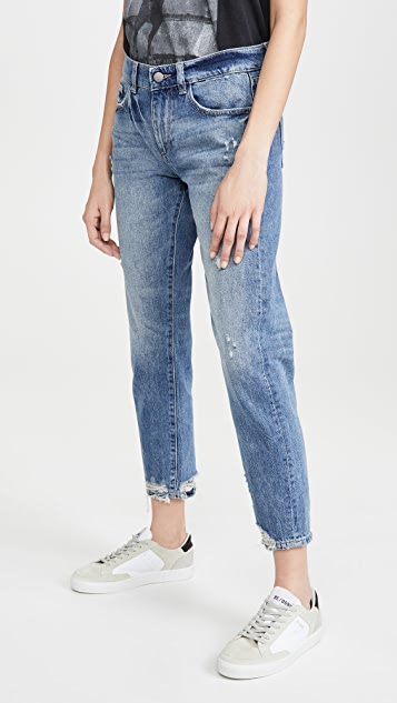 DL1961 Riley Tapered Mid Rise Boyfriend Jeans