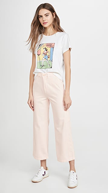 DL1961 Широкие джинсы Hepburn с высокой посадкой